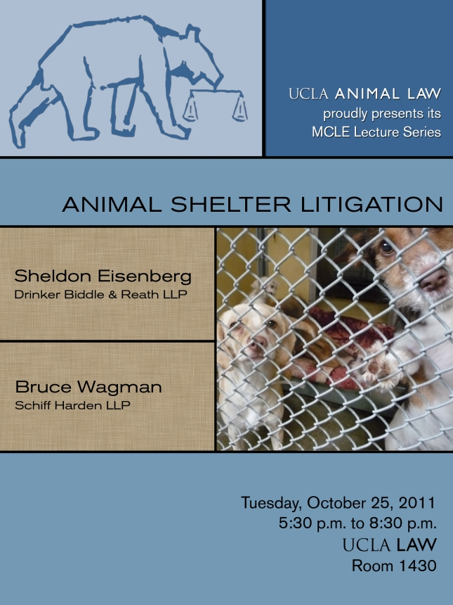 animal shelter litigation flyer